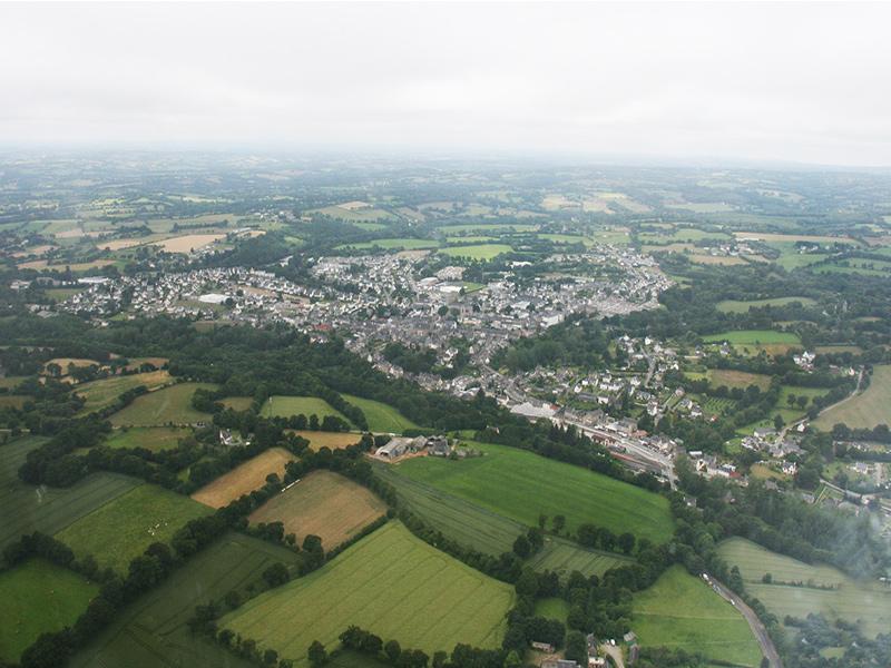 Vue aérienne de Callac